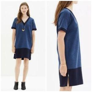 NWOT Madewell Blue shift Dress, Size XS